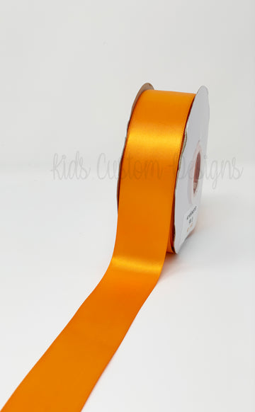 Double Face Satin Ribbon Orange (W: 1-1/2 inch | 100 yards)