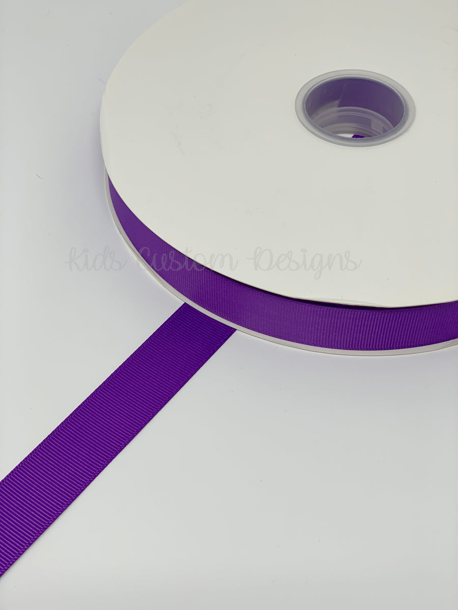 Grosgrain Ribbon Purple (W: 7/8 inch | 100 yards)