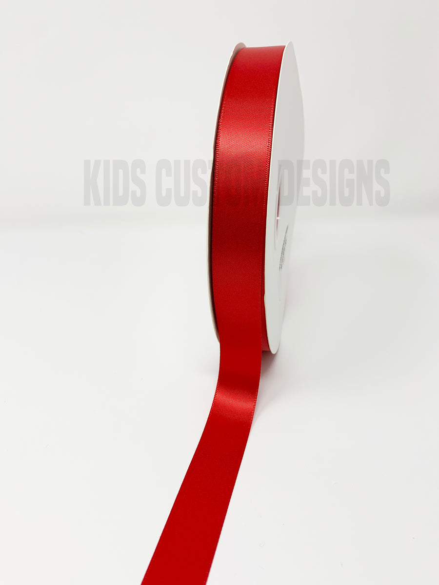 Double Face Satin Ribbon Red (W: 7/8 inch | 100 yards)
