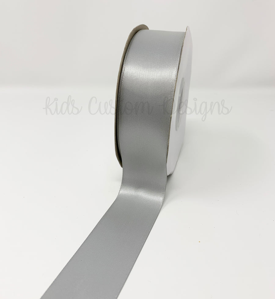 Double Face Satin Ribbon Silver (W: 1-1/2 inch | 100 yards)