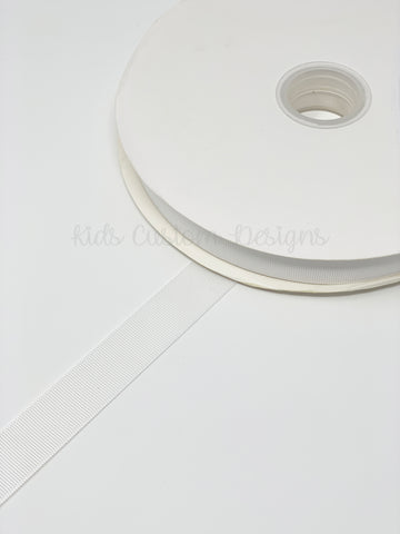Grosgrain Ribbon White (W: 7/8 inch | 100 yards)