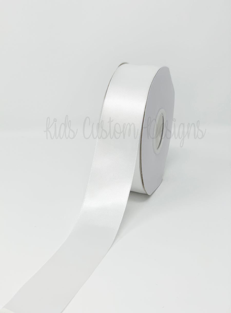 Double Face Satin Ribbon White (W: 1-1/2 inch | 100 yards)
