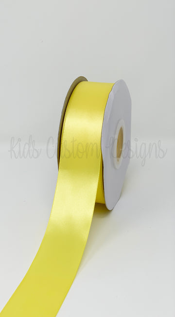 Double Face Satin Ribbon Yellow (W: 1-1/2 inch | 100 yards)