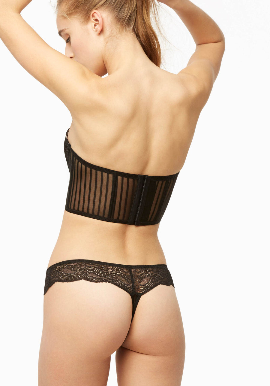 BLUSH SHEER DESIRE - BLACK THONG