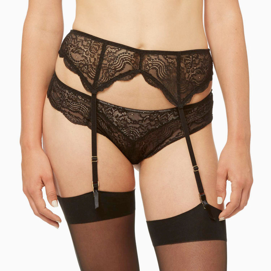 BLUSH SHEER DESIRE - GARTER BELT