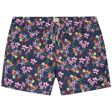 DSTREZZED PHOTOFLOWER PRINT SWIMSHORTS