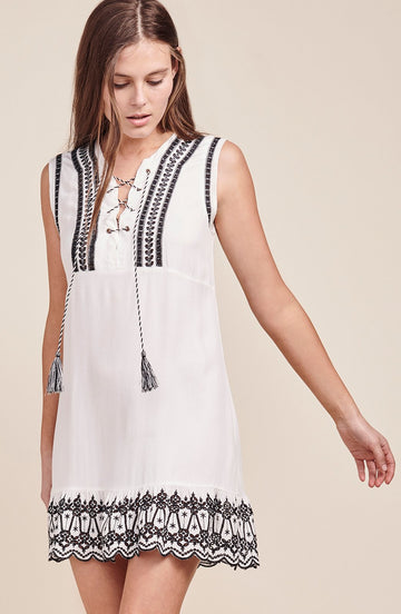 BB DAKOTA PAIGE LACE UP DRESS