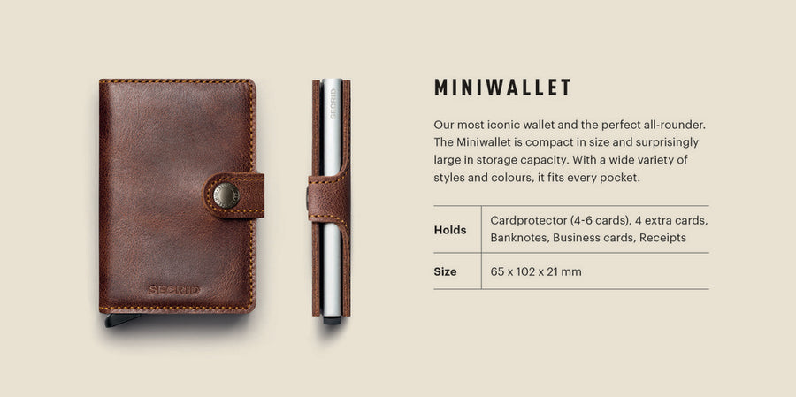 SECRID MINIWALLET METALLIC LEATHER