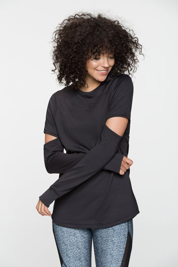 INDUSTRY EXTENSION LONG SLEEVE TOP
