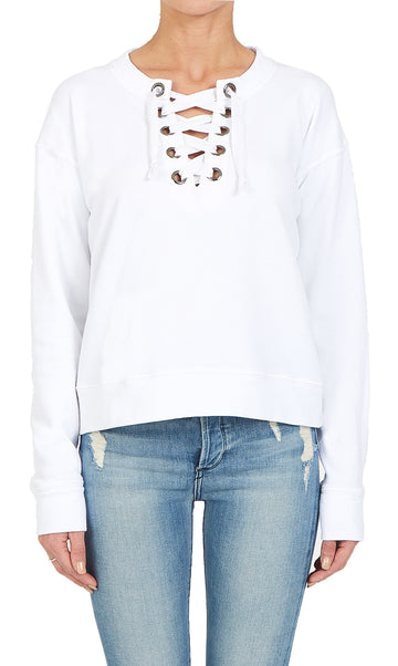 Black Orchid Lace-up Sweatshirt