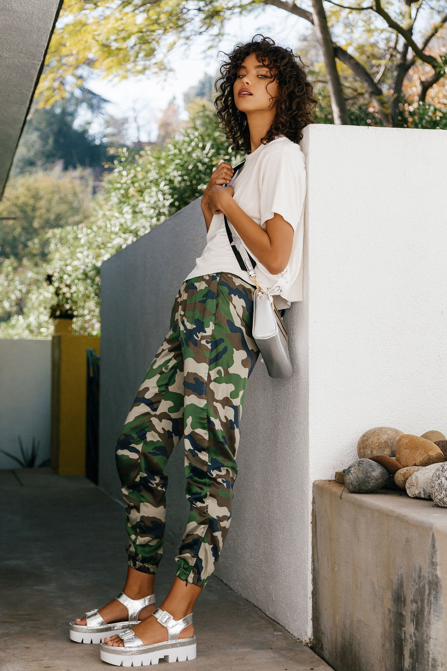 KENDALL & KYLIE CAMO JOGGER