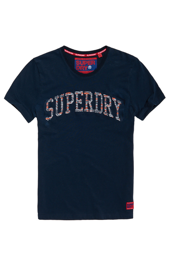 Superdry varsity all-over-print embossed tee