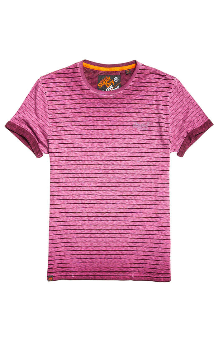 Superdry low roller clash stripe tee