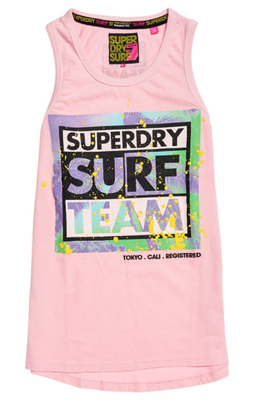 Superdry echo long line vest tank