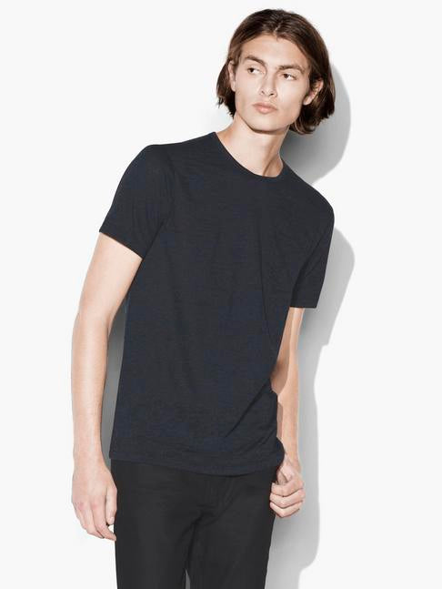 JOHN VARVATOS SHORT SLEEVE BURNOUT CREWNECK