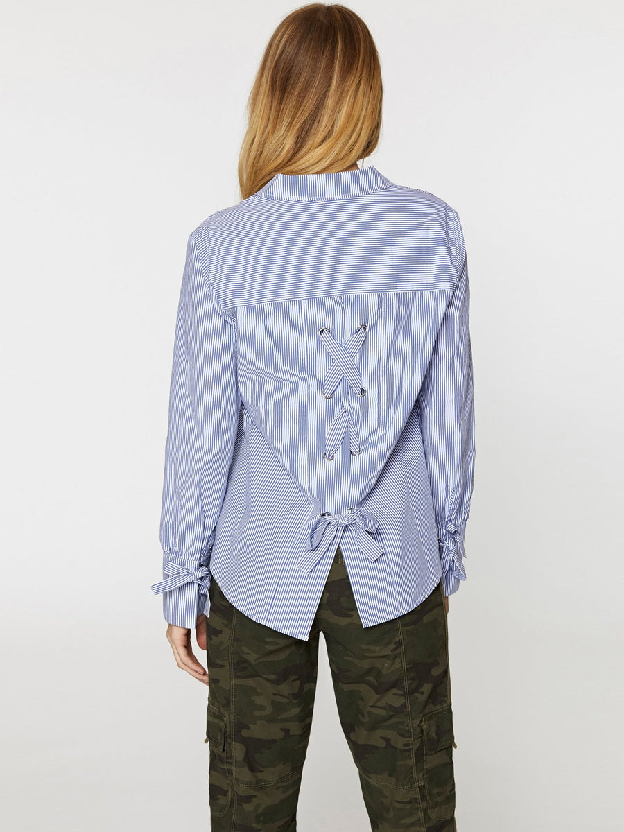 SANCTUARY SORREL TIE BACK SHIRT