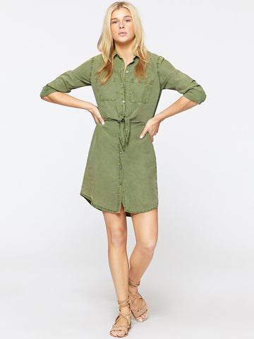 SANCTUARY FORGET ME KNOT SHIRT DRESS