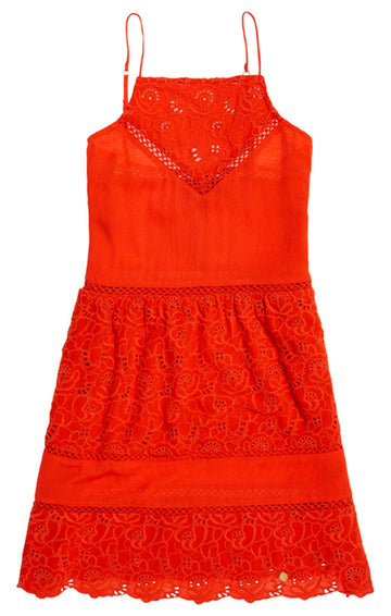 SUPERDRY LILAH SCHIFILLI DRESS