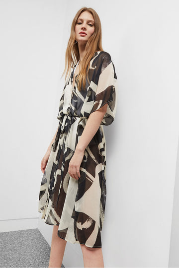 GREAT PLAINS INK WASH KIMONO