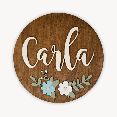 Disco en Relieve Personalizado Flores