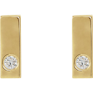 14K Yellow .06 CTW Diamond Earrings