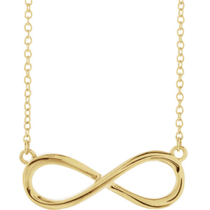 "14K Infinity-Inspired 18"" Necklace"
