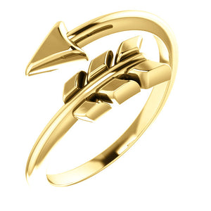 14 Karat Yellow Gold Arrow Ring