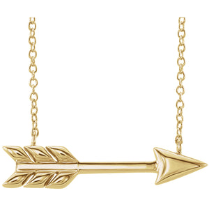 "14K Gold Arrow 16""-18"" Necklace"