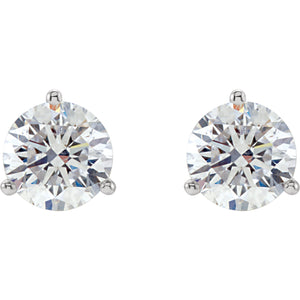 14K White 1/2 CTW Diamond Stud Earrings