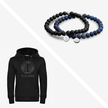 Hoodie Black Male + Laguna Blue & Black | Tom Hope
