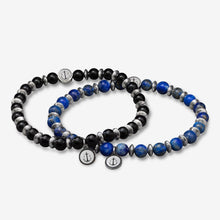 Tom Hope Bracelet Laguna Steel Blue & Black