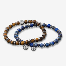 Tom Hope Bracelet Laguna Steel Blue & Brown