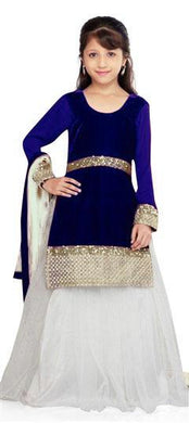 Blue Colour Sweet Angel New Year Special Lehenga