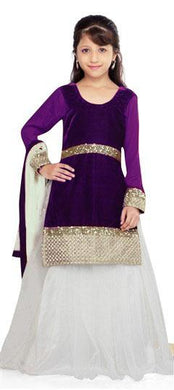 Purple Colour Sweet Angel New Year Special Lehenga