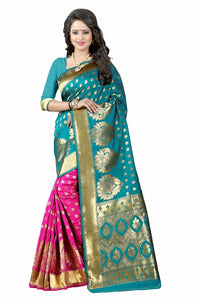 Firogi Color Poly Cotton Kanchivaram Saree
