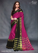 Pink Color Pure Silk Jacquard Cotton Blouse Saree
