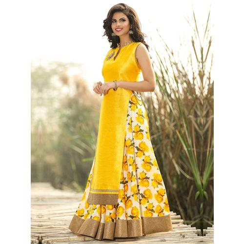Yellow Designer Dress