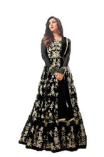 Charming Black Coloured Heavy Embroidered Worked Anarkali Suit