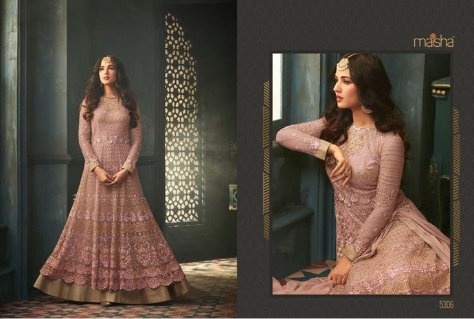 Ramjan Special Pink Color Embroidary Work Amarkali Suit