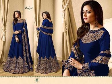 Awesome Look Blue Full Length Designer Look Faux Long Suit