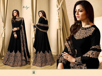 Awesome Look Black Full Length Designer Look Faux Long Suit