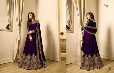 Awesome Look Purple Full Length Designer Look Faux Long Suit