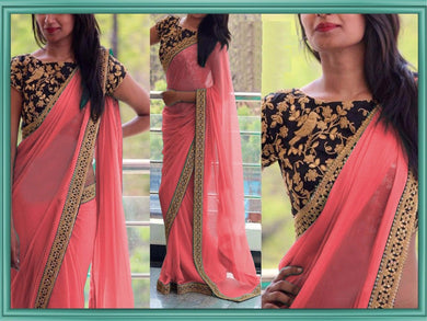 Pink Color Buy Latest & Exclusive Attractive Designer Sequance And Thread Work Georgette Partywe