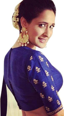 Blue Color Embroidered Banglori Fabric Lehenga Choli For Women