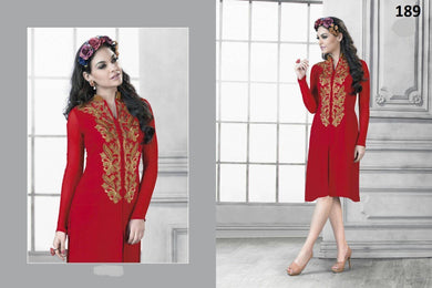 Red Colour Kurti Red