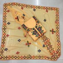 Yellow Colour New Cotton Chanderi Full Emrodori Work Salwar Suit