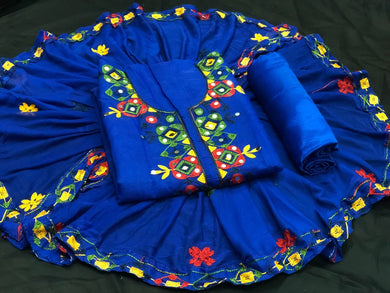 Blue Color Summer Sale Heavy Discount On Chanderi Salwar Suit