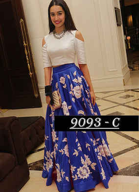 Bollywood Replica - Shraddha Kapoor Blue & White Party Wear