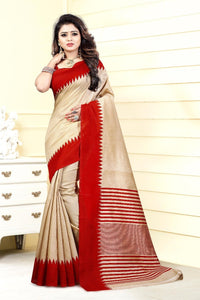 Latest Designer Multi Color Art Silk Printed Saree With Blouse Saree