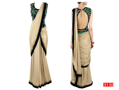 Beige Colour  Saree Exclusive Beautiful Designer Bollywood Indian Partywear Sari 118